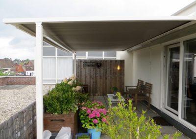 vrijstaande zonwering Pent House Venlo